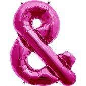 Rozā folija balons & 86  cm