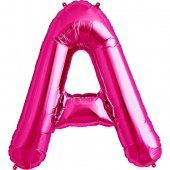 Rozā folija balons A 86  cm