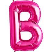 Rozā folija balons B 86  cm