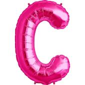 Rozā folija balons C 86  cm