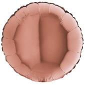ROSE GOLD ROUND gaisa balons 45 СM