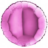 PINK ROUND gaisa balons 45 СM
