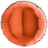ORANGE ROUND gaisa balons 45 СM