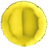 YELLOW ROUND gaisa balons 45 СM