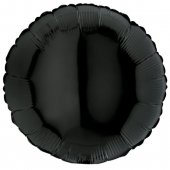 BLACK ROUND gaisa balons 45 СM