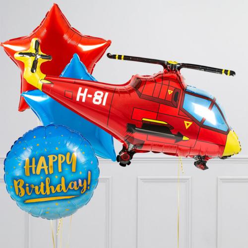 "Hēlija balonu pušķis ""Helikopteris"""