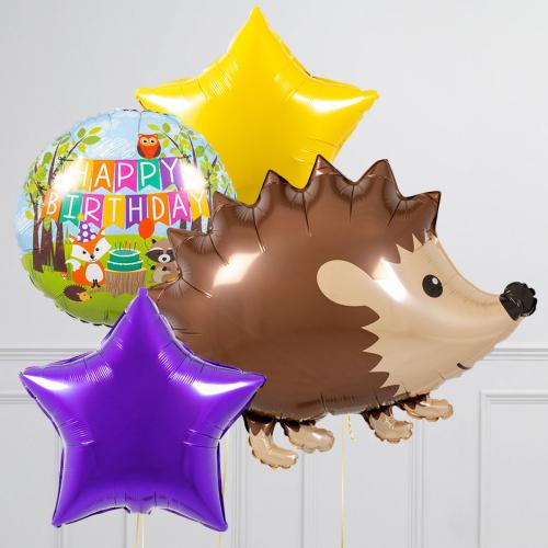 """Hēlija balonu pušķis """"Ezis"""""""