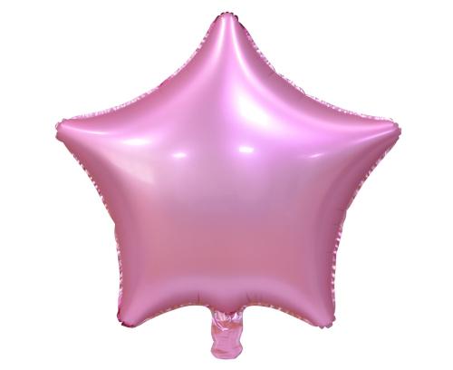 """Folija zvaigzne """"Pasteļu rozā krāsā"""" 45 cm"""