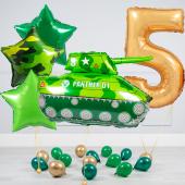 """Hēlija balonu pušķis """"Dzimšanas dienas Tanks"""""""