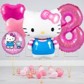 """Hēlija balonu pušķis """"Dzimšanas dienas Hello Kitty"""""""