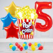 """Hēlija balonu pušķis """"Dzimšanas dienas Popkorns"""""""
