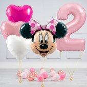 """Hēlija balonu pušķis """"Dzimšanas dienas Minnija"""""""