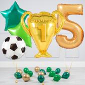 """Hēlija balonu pušķis """"Dzimšanas dienas Kauss"""""""