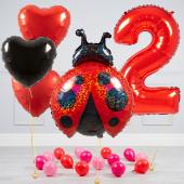 """Hēlija balonu pušķis """"Dzimšanas dienas Bizbizmārīte"""""""