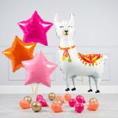 """Hēlija balonu pušķis """"Dzimšanas dienas Lama"""""""