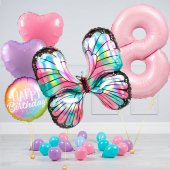 """Hēlija balonu pušķis """"Dzimšanas dienas Taurenis"""""""