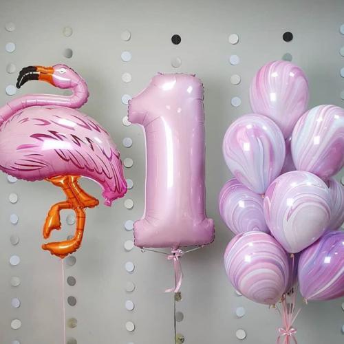 Rozā flamingo pušķis