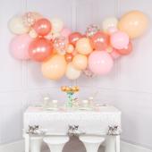 Balonu mākoņkomplekts Rožu zelts