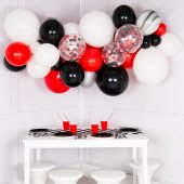 Balonu mākoņkomplekts Melns, balts un sarkans