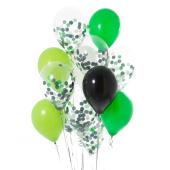 Iepakojums ar 14 futbola ballītes konfeti baloniem