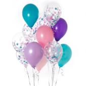 Iepakojums ar 14 nāriņas konfeti baloniem