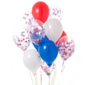 Iepakojums ar 14 Londonas konfeti baloniem