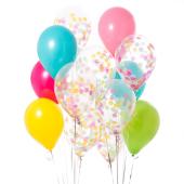 Iepakojums ar 14 tropiskajiem konfeti baloniem