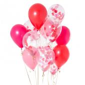 Iepakojums ar 14 mīlestības konfeti baloniem