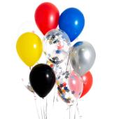 Iepakojums ar 14 supervaroņu konfeti baloniem