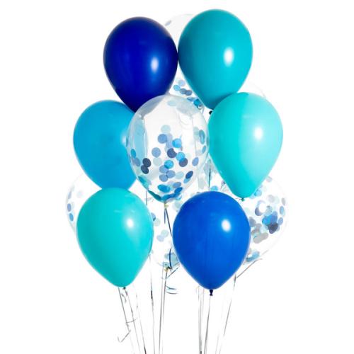 Iepakojums ar 14 zem jūras konfeti baloniem