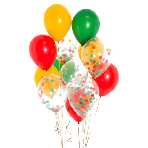 Iepakojums ar 14 lauku sētas konfeti baloniem
