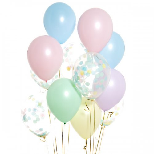 Iepakojums ar 14 saldējuma konfeti baloniem