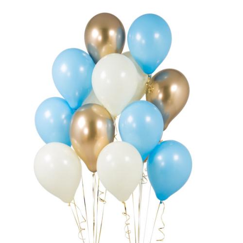 14 lateksa baloni maigi zilā krāsā