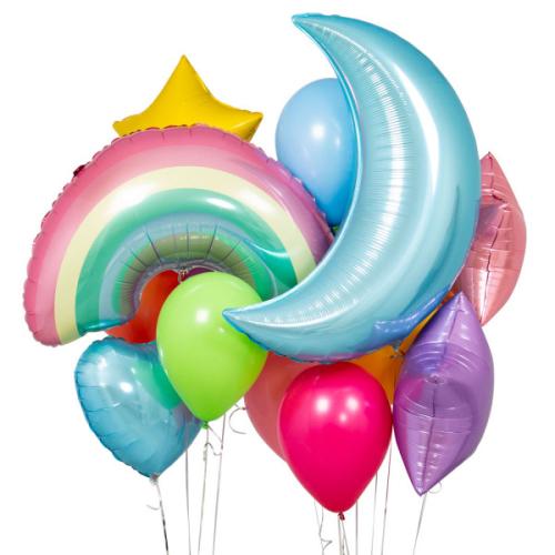 """""""Pastel Rainbow Crazy"""" Balonu kompozīcija"""