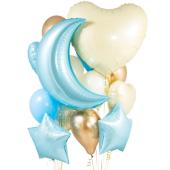 """Baby Blue Crazy"" Balonu kompozīcija"