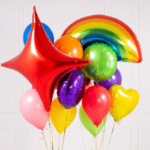 """""""Rainbow Bright Crazy"""" Balonu kompozīcija"""