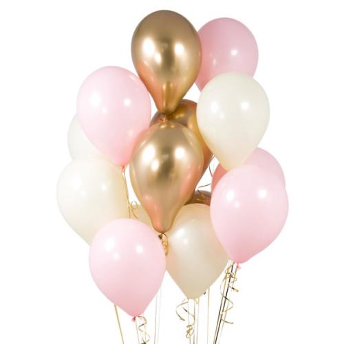 Iepakojums ar 14 ballīšu baloniem Baby Pink Party