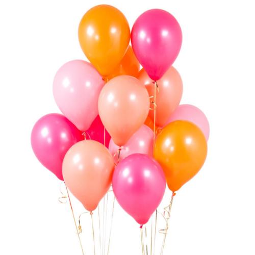 Iepakojums ar 14 ballīšu baloniem Flamingo Pink Party