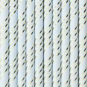 Paper straws, light blue, 19.5cm (1 pkt / 10 pc.)