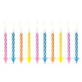 Birthday candles, mix, 6cm (1 pkt / 10 pc.)