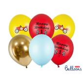 Balloons 30cm, Happy Birthday, mix (1 pkt / 6 pc.)