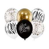 Balloons 30cm, Girls Night Out, mix (1 pkt / 6 pc.)