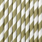 Paper Straws, gold, 19.5cm (1 pkt / 10 pc.)