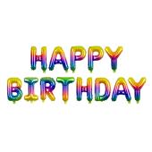 Foil Balloon Happy Birthday, 340x35cm, rainbow