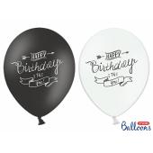 Balloons 30cm, Happy Birthday, Pastel Mix (1 pkt / 50 pc.)