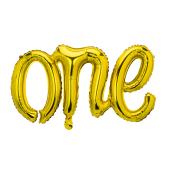 Foil balloon One, 66x37cm, gold