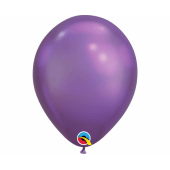 Apdrukāts lateksa balons chrome purple (30 cm)