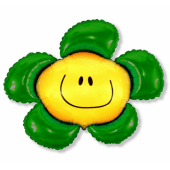 Balons folija 24 collas FX - ziedi (zaļš)