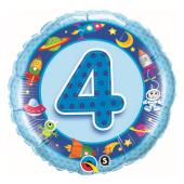 45 cm Folija balons 4 with images, blue.