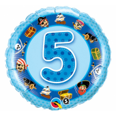 45 cm Folija balons 5 with images, blue